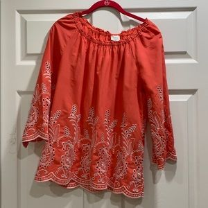 Cupio Off Shoulder Embroidered Blouse S